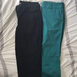 2 pair Loft ankle pants